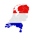 Map and flag of the Netherlands vector image