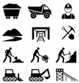 Mining and industry icon set vector image