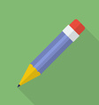 Pencil icon Modern Flat style with a long shadow vector image