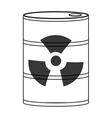 toxic waste icon vector image