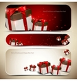 Set of three banners with gifts vector image vector image