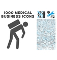 Courier Icon with 1000 Medical Business Symbols vector image