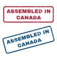 Assembled In Canada Rubber Stamps vector image
