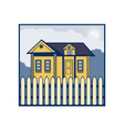 house with picket fence vector image vector image