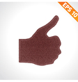 Best Quality thumb up on denim style - - EPS vector image vector image