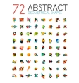 Set of colorful abstract geometric shapes vector image vector image
