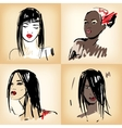 Beautiful girls set vector image vector image