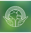Earth globe in human hands planet protection care vector image