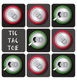 Tic-Tac-Toe of soda can or beer vector image