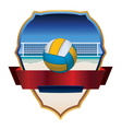 Beach Volleyball Badge vector image