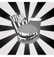 vintage grey theme of hamburger vector image