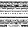 Tribal ethnic stripe seamless Black and white vector image