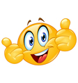 thumbs up emoticon vector image vector image