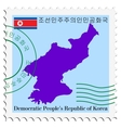 mail to-from North Korea vector image