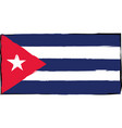 abstract cuba flag or banner vector image