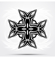 Abstract tribal tattoo Celtic cross vector image