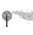 Black music tree isolated on white background vector image