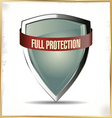 Full protection shield vector image