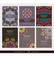 Mandala cards collection vector image