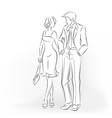 Romantic dating man and woman are in love vector image