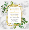 wedding invitation with greenery vector image
