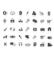 many black web icons vector image