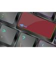 blank keyboard key keyboard key vector image vector image