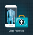 x ray digital medical healthcare isolated vector image