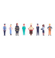 People group different occupation set workers vector image