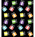 seamless pattern with boxes for gifts vector image