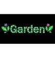 Gem word garden vector image vector image