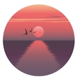 horizontal of sunset over the vector image