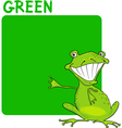 Color Green and Frog Cartoon vector image