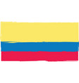 abstract ecuadorian flag or banner vector image