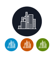 Business center icon city icon vector image