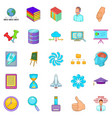 department icons set cartoon style vector image