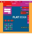 Flat Web Design elements buttons icons vector image