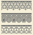 floral arabic lacy seamless border snow line vector image