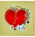 Heart Lily vector image