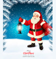 holiday christmas background with a santa claus vector image