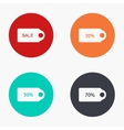 modern sale colorful icons set vector image