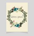 pastel floral wreath vector image