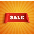 Sale red banner on orange background vector image