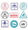winter sports stamps vector image