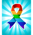Rainbow Pride Ribbon vector image