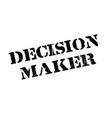 decision maker rubber stamp vector image