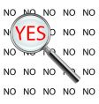 yes or no poster vector image vector image