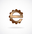 E letter logo template Gear technical concept vector image
