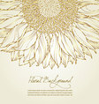 floral sunflower background vector image vector image