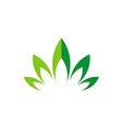 green leaf lotus flower abstract logo vector image